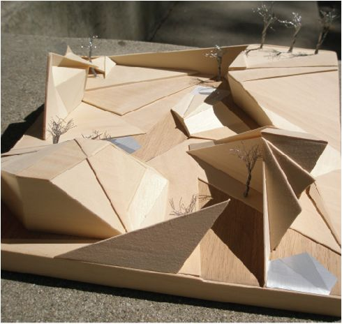 Shifting Planes Landscape Architecture Model by Sharon Clay, via Behance