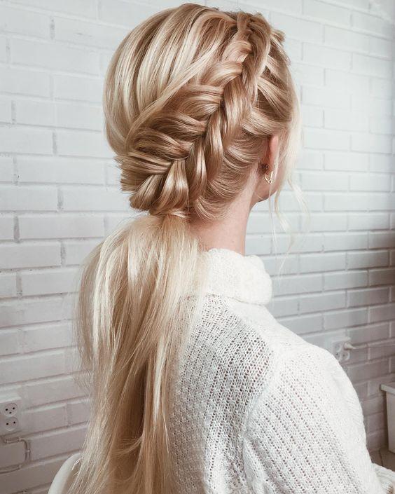 11 Gorgeous And Elegant Half Up Half Down Hairstyles: 42 Gorgeous Wedding Hairstyles---elegant Pony Tail Half Up