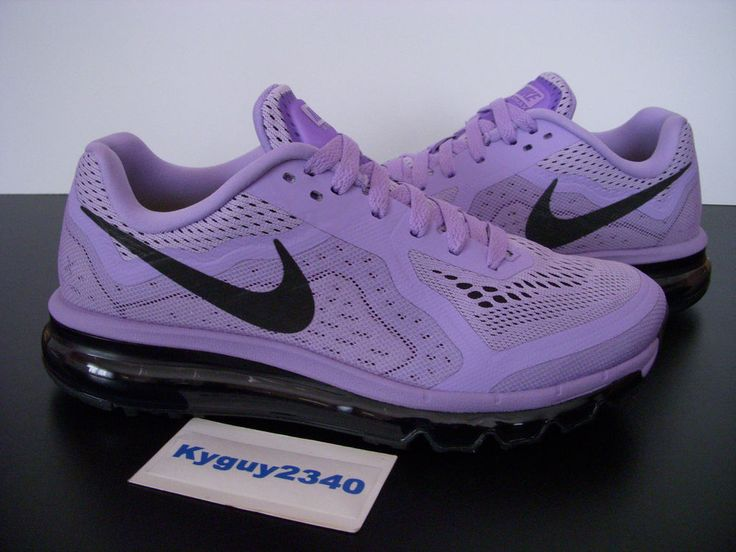 WOMENS NIKE AIR MAX 2014 URBAN LILAC PURPLE RUNNING 621078 502 (SIZE 8.5