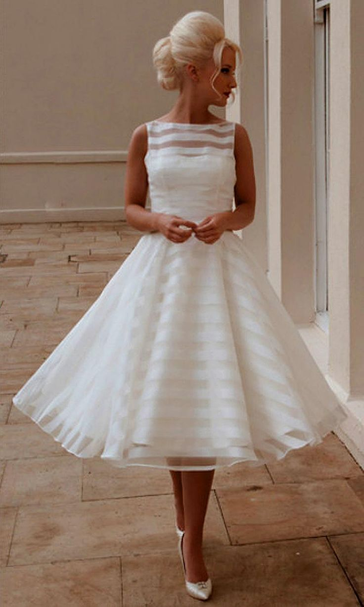 1012 best wedding dresses images on pinterest wedding dressses new custom a line scoop sleeveless vintage tea length tulle short wedding dresses bridal gowns 2015 ombrellifo Choice Image