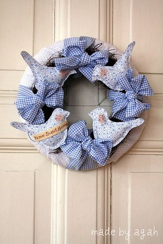 Inspiration...made by agah Blue Birds Wreath | Flickr - Photo Sharing!