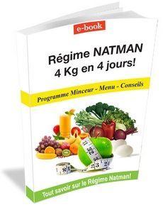 REGIME NATMAN - Programme-Minceur, Menus - Jour 1