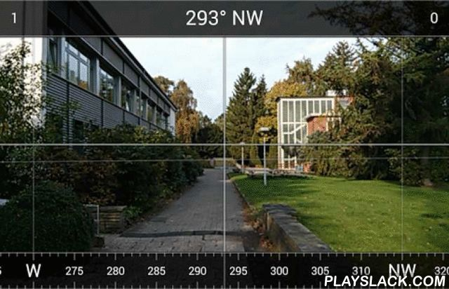 AR Camera Compass  Android App - playslack.com , Augmented reality sighting compass using the camera* Angle scale* Cardinal directions* Degrees* Crosshair* Inclination* Hold function* Settings