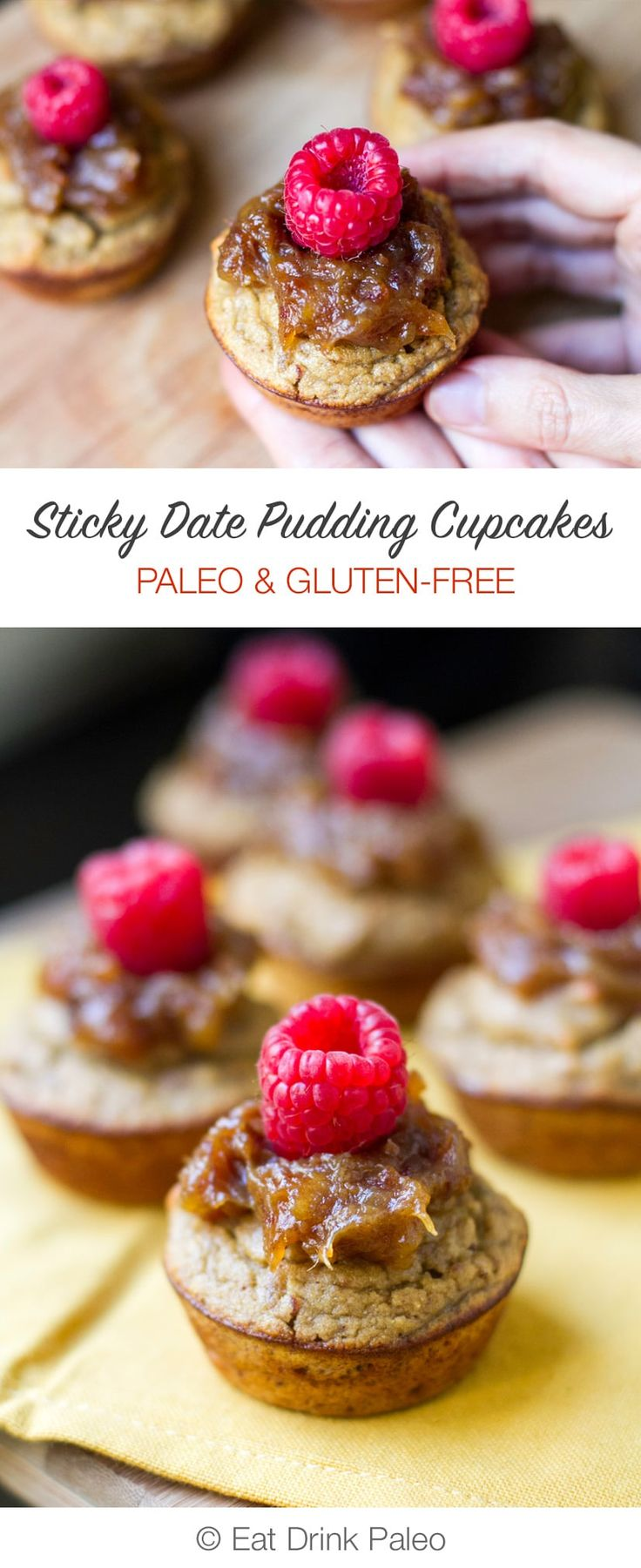 These gluten-free, paleo cupcakes are inspired by sticky date pudding and are adapted from Optimal Health The Paleo Way book (review included).