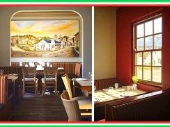 The recently renovated interior of Rossi's Italian Restaurant, Hermanus.