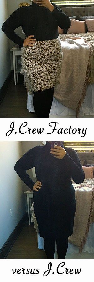 J.Crew and J.Crew Factory Tissue Turtleneck Comparison and Review • Girl Goals and Glam