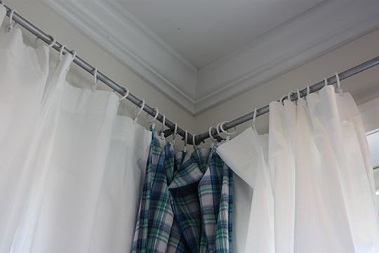 How To Make Curtain Rods from Conduit, Apartment Therapy Tutorial, http://www.apartmenttherapy.com/how-to-make-curtain-rods-from-electrical-conduit-apartment-therapy-tutorials-184336