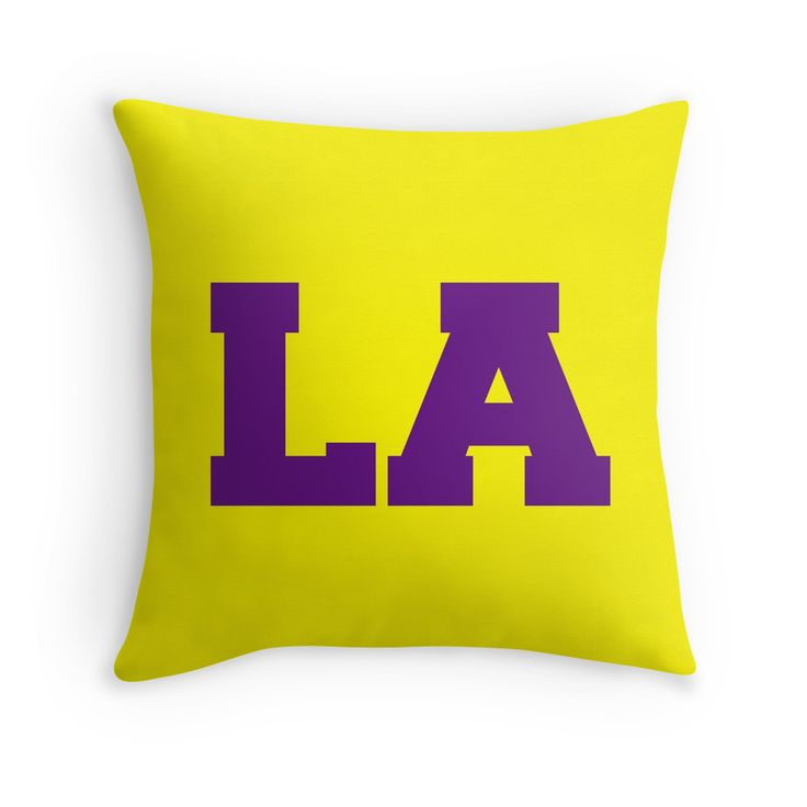 If you love watching the LA Lakers Basketball team, then you will love this Los Angeles in LA Lakers colors throw pillow.