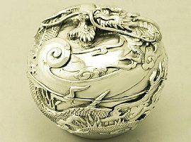 An exceptional, fine and impressive antique Japanese sterling silver box.