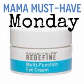 **MAMA MUST HAVE MONDAY** REDEFINE Multi-Function Eye Cream A recommended addition to all Rodan+ Fields regimens. This peptide-enriched eye treatment combines collagen-stimulating and anti-inflammatory peptides to minimize the appearance of crow's feet, help reduce puffiness, and diminish dark under-eye circles. Optical diffusers instantly brighten eye area.