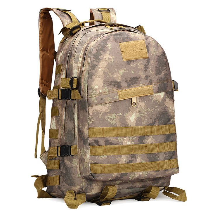 Military waterproof nylon portable backpack double shoulder rucksack 40L camouflage tactics commando outdoor sports punch bags