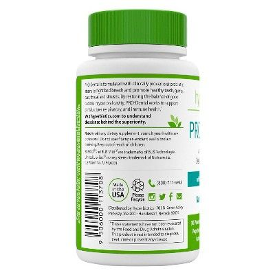 Hyperbiotics 90ct Pro-Dental Chewable Probiotic Tablets