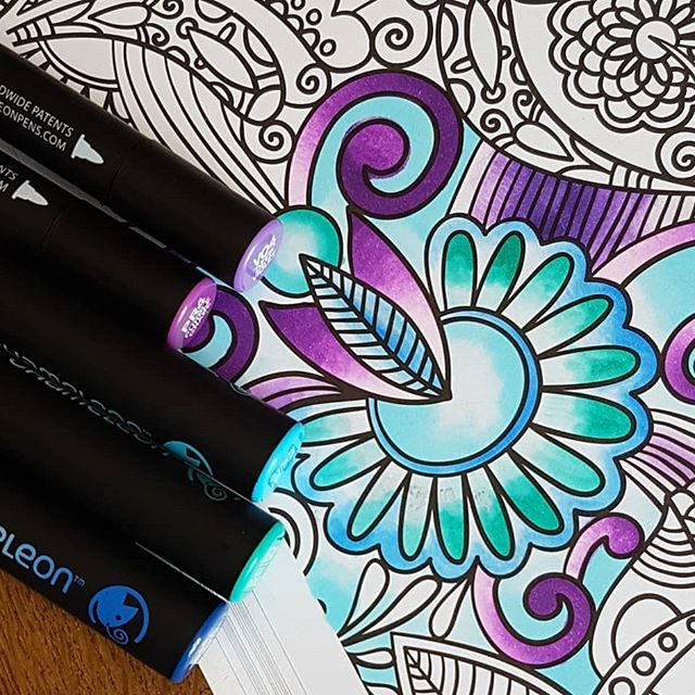 Beautiful Start To A Coloring Page By Sezpayne Using Their Chameleon Pens Chameleonpens Pen Marker Alcohol Alcohol Markers Chameleon Color Coloring Pages