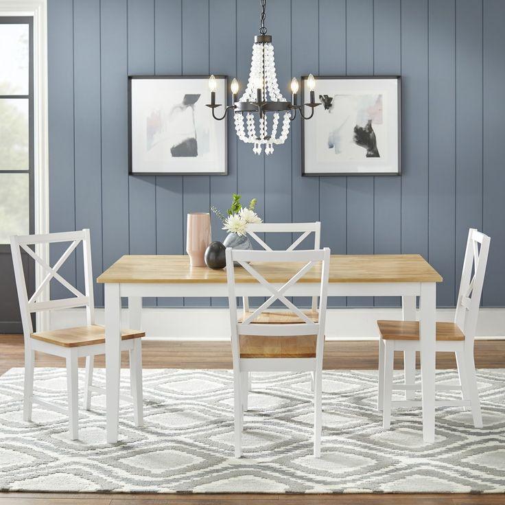 24++ Simple living crossback white natural 7 piece dining set Best Seller