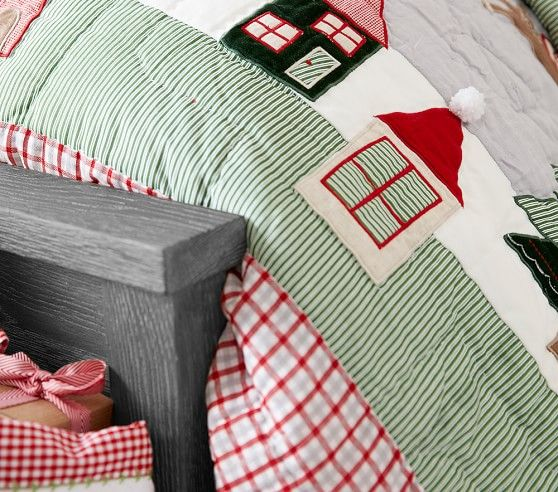 North Pole Quilted Bedding Pottery Barn Kids Quilt