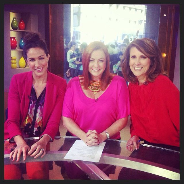 Our Betty Basics maui tee in hot pink, and our Sistaco necklace, were worn by Shelly Horton, journalist, on Channel 7's Sunrise. Shop the Betty Basics range and Sistaco range now at www.threadsandstyle.com.au.