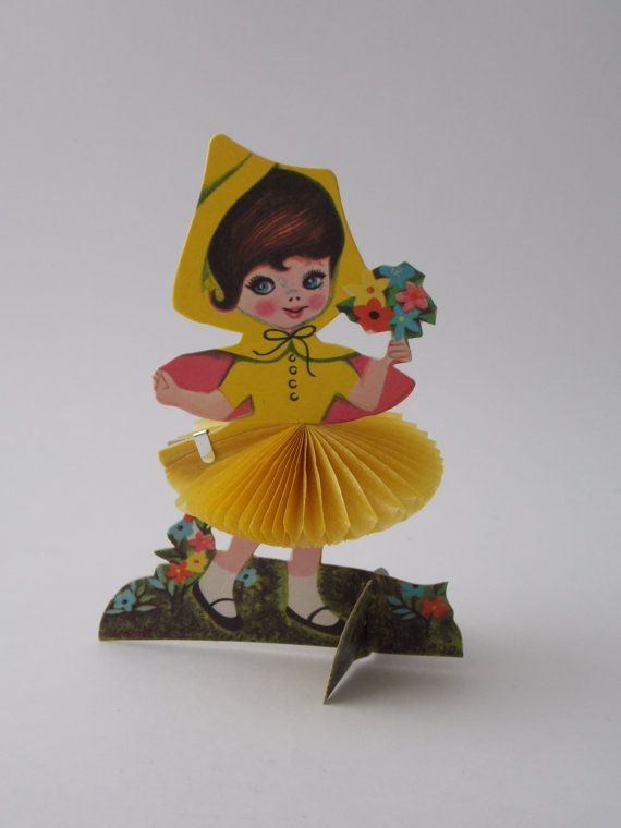 Vintage party favor standing girl party by GeneralyLovelyThings