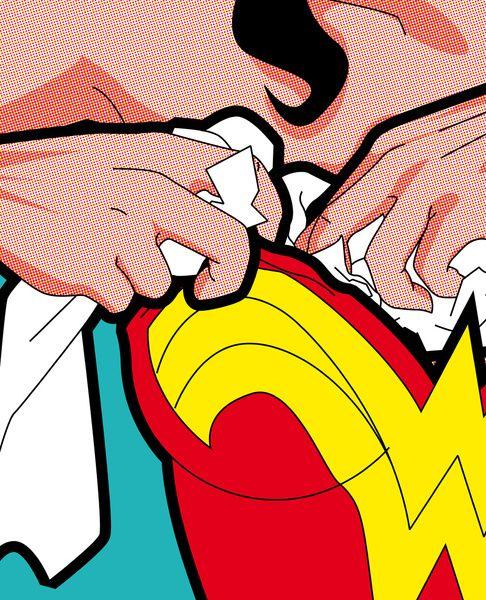 The secret life of heroes - Wonder Breasts Art Print