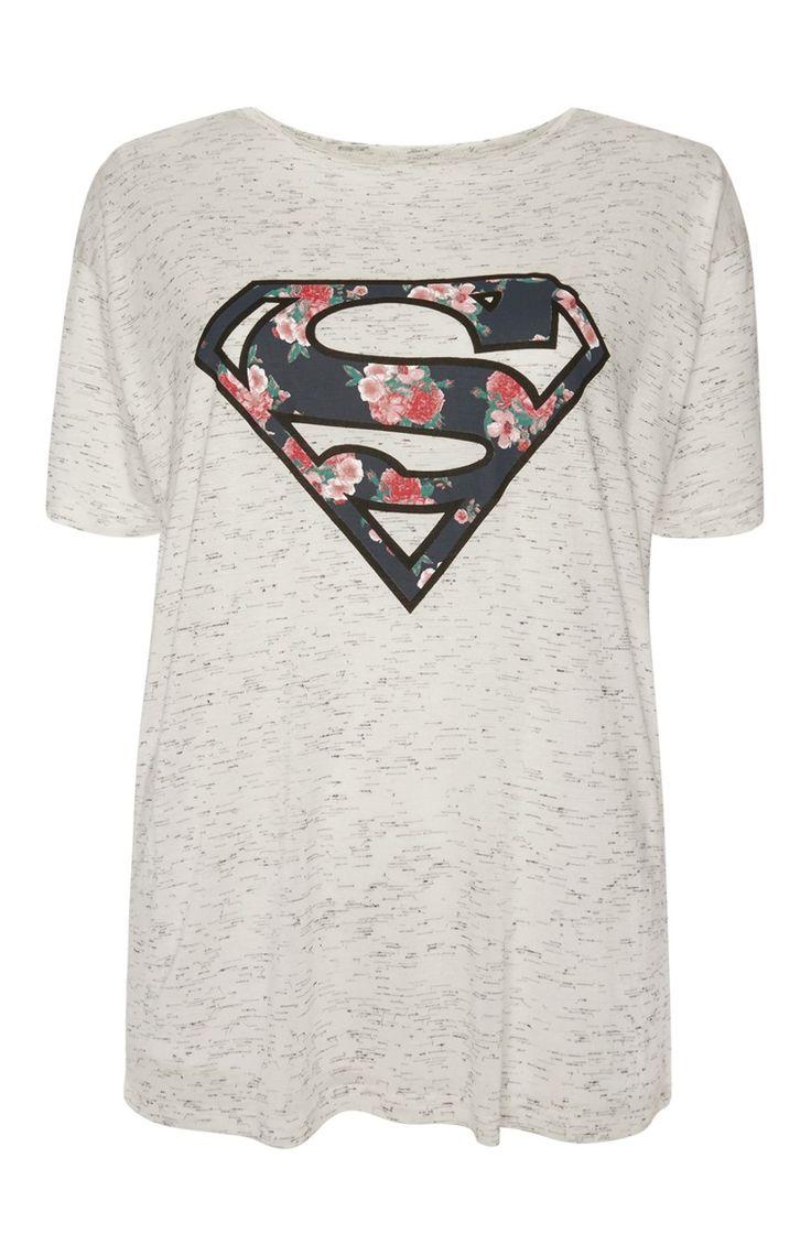 """Primark - """"Superman"""" T-Shirt in Grau                              …"""