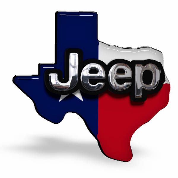 Jeep Texas Flag Lone Star State 3D Custom Emblem by Dreams2things on Etsy https://www.etsy.com/listing/268112714/jeep-texas-flag-lone-star-state-3d