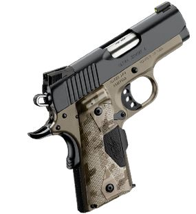 Kimber 1911 Ultra Carry Covert II.  So accurate, shoots like a 9mm. Want one.