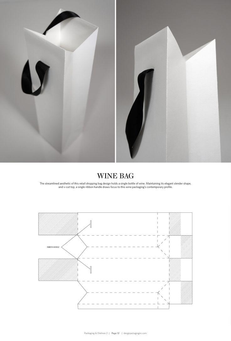 Wine Bag – structural packaging design dielines