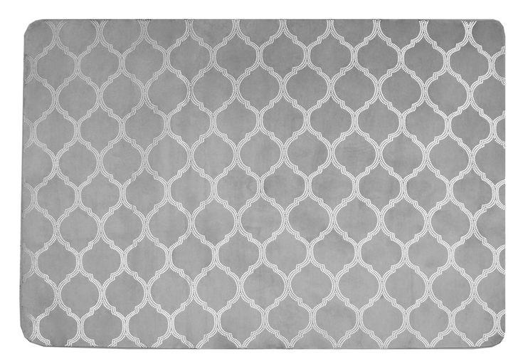 140x200 wysokiej jakości pluszowe dywany szare w ozdobne wzory