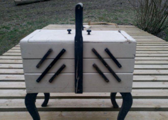 Tosi vanha aukeava laatikosto