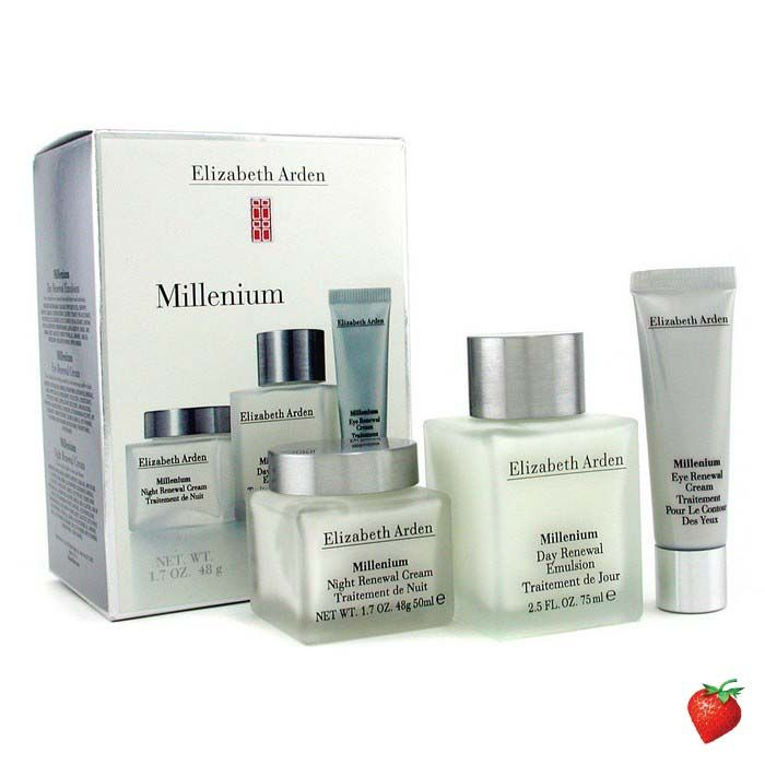 Elizabeth Arden Millenium Set: Day Renewal Emulsion + Night Renewal Cream + Eye Renewal Cream 3pcs #ElizabethArden #WomensSkincare #Women #StrawberryNET #FREEShipping #Hotbuy #Discount