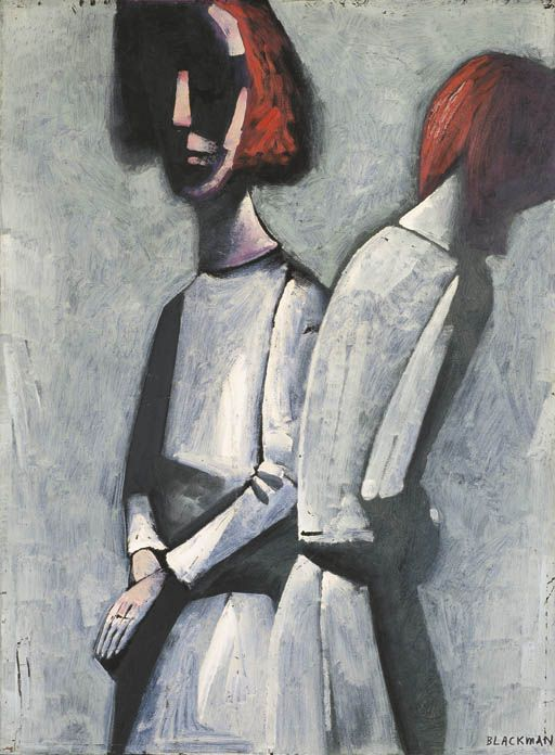 Charles Blackman ~ Two Figures, c.1960