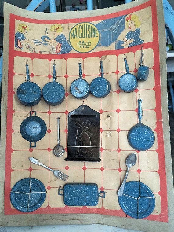 Wonderful Vintage French Doll's Kitchen by QuelJoliReveAntiques, $142.99