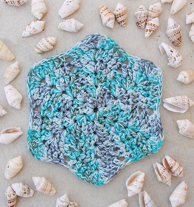 Crocheted Starfish washcloth