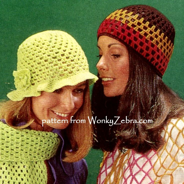WZ438 flower power hats and matching scarves