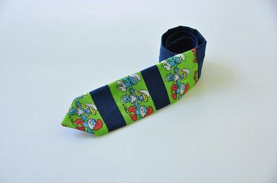 Kids necktie - Smurfs tie - Smurfs necktie - Smurfs boy ...