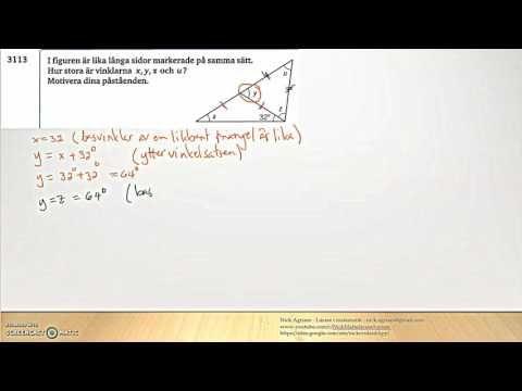 Matematik 5000 2bc VUX - Kapitel 3 - Geometri - Yttervinkelsatsen - (311...