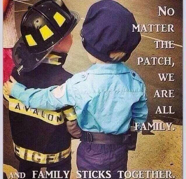 #Fire, #Police, and #EMS stick together. Law Enforcement Today  wish it was like this all the time