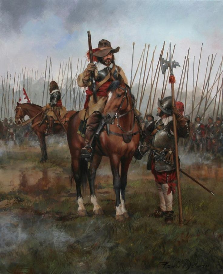 Caballería Española, Guerra de los Treinta Años (1618-1648), del pintor catalán Augusto Ferrer-Dalmau
