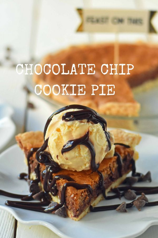 Chocolate Chip Cookie Pie Flaky Buttery Pie Crust Baked With