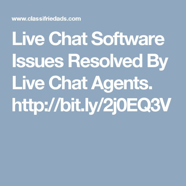 Live Chat Software Issues Resolved By Live Chat Agents. http://bit.ly/2j0EQ3V