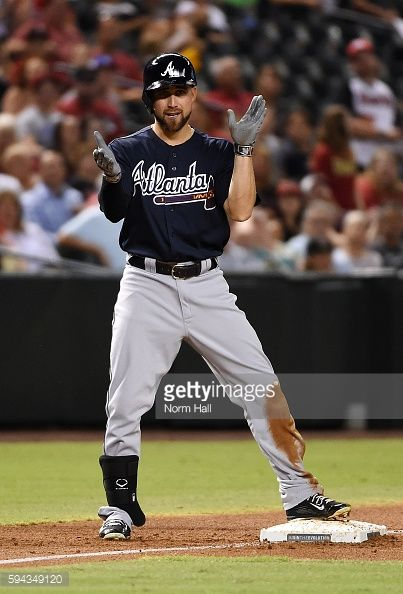 News Photo : Ender Inciarte of the Atlanta Braves reacts after...