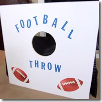 Super Bowl Party Game - Challenge your friends and family to a game of Football Throw