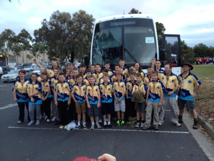 Outback 01 troop before departing Karingal SC Frankston at 6am this morning - have a blast team!