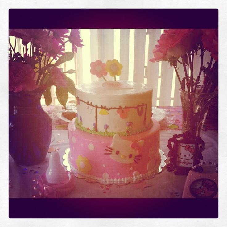 Hello Kitty Baby Shower Cake.