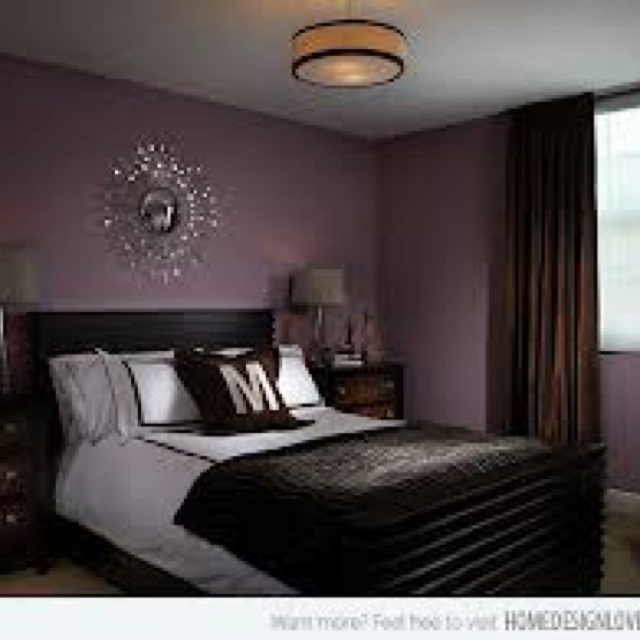 Purple chocolate brown decor home pinterest brown for Black and purple bedroom ideas