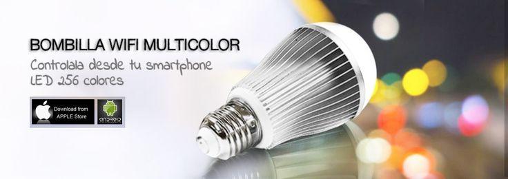 Bombilla LED wifi RGB con mando cambiar colores - Tutiendastore  #ledwifi #bombillawifi #luzwifi #ledrgbwifi #ledrgb #tutiendastore #bombillaledwifi #tiraledwifi #bombillawifimando #ledwifimando #ledwifimovil