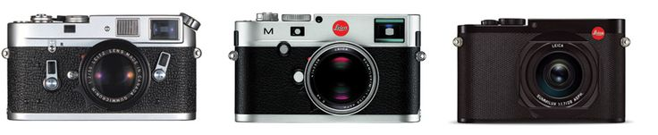The Leica M4, M (Typ 240) and Q