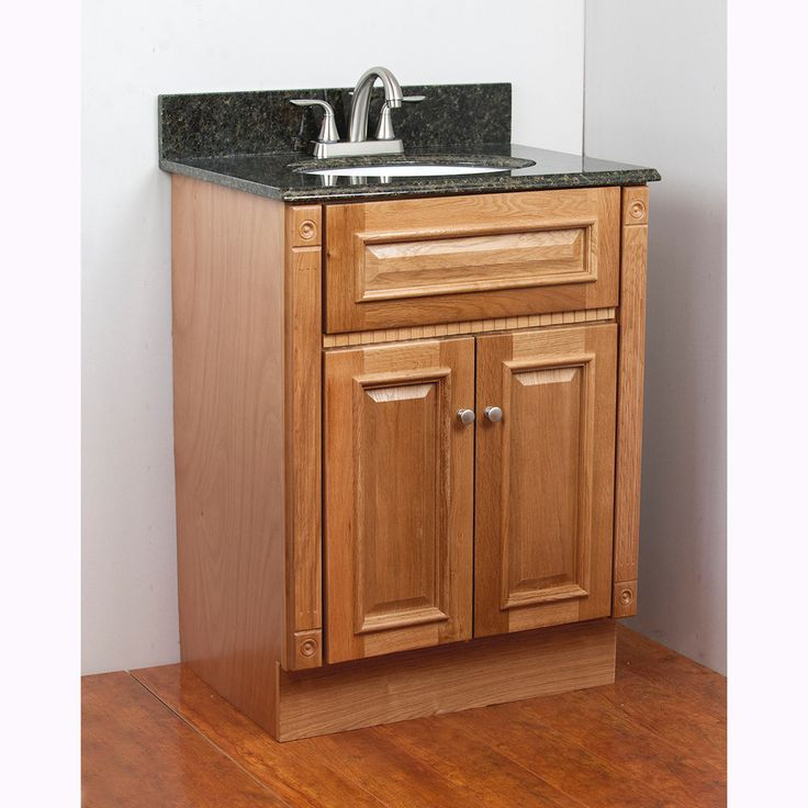 Awesome Websites  inches x inches Oak Vanity Cabinet Materials Oak Finish Stained Poly Hardware finish Nickel Faucet None Cutout for sink no sink Type of top No