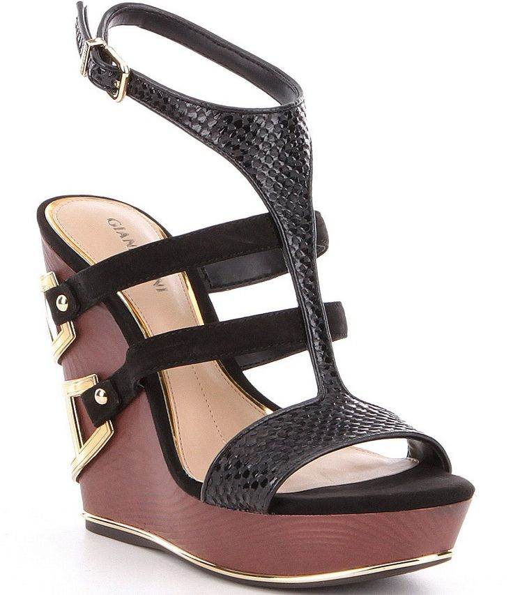 Shop for Gianni Bini Emiras Leather Metal Detail Platform Wedge Sandals at Dillards.com. Visit Dillards.com to find clothing, accessories, shoes, cosmetics & more. The Style of Your Life.