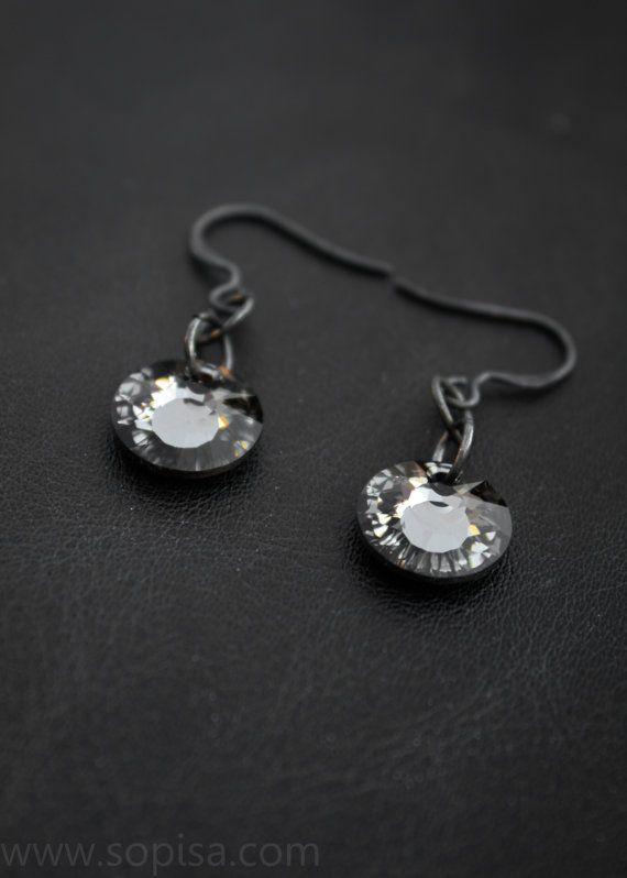 Handmade oxidized sterling silver earrings with by SopisaJewelry