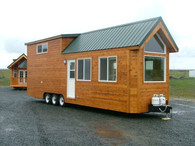Montana Community Moves Forward With Plans For A Tiny: Rich's Portable Cabins - Exterior Left
